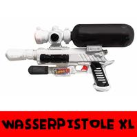 Wasser Pistole Gewehr Wasserpistole Wassergewehr Sommer Kind Kinder Spielzeug Wasserspielzeug Wasserkämpfer 44cm Tank Behälter Zuhause Pool Garten Bad Badi Strand NEU