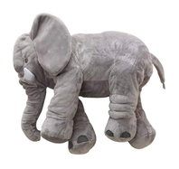 XXL Elefant Kuscheltier I 80cm Plüschtier Gross Geschenk für Baby Kinder Elefantenkissen